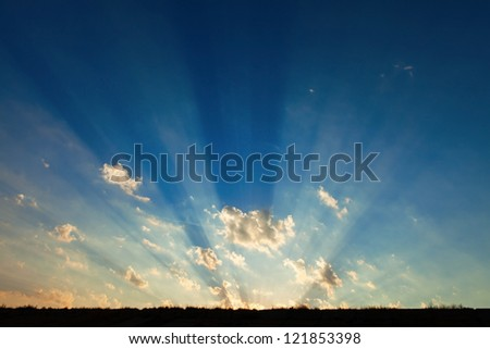 natural rays of light on sunshine