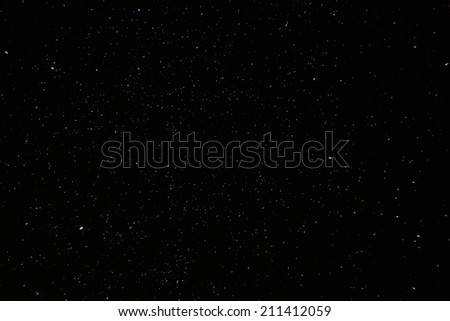Natural real night sky stars background texture.