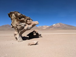 Natural rock formation caused by wind erosion