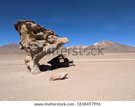 Natural rock formation caused by wind erosion Photo stock ©