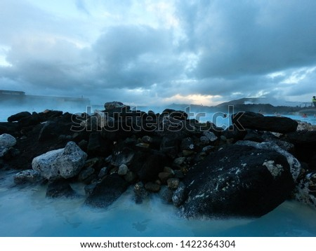 Natural Rocks at Blue Lagoon, Blue Lagoon, Iceland #1422364304