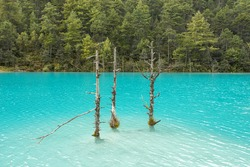Natural scenery of Blue Moon Valley in Lijiang