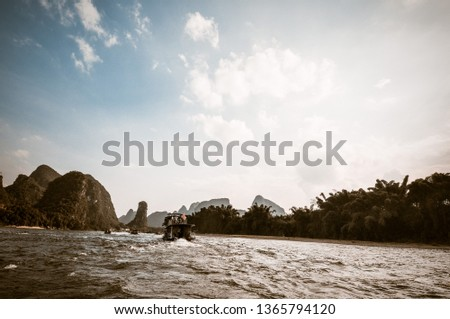 Natural scenery of rivers, mountains and rivers
