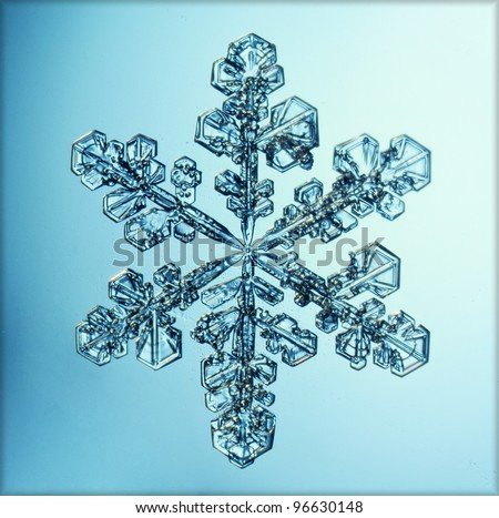 natural snowflake macro ice crystal