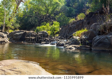 Natural spa pools of Dolerite Gorge in the King Leopold Conservation Reserve, Kimberley, Australia.