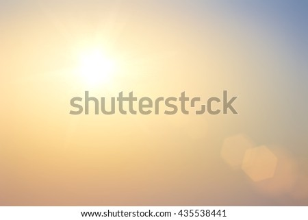Natural spring backgrounds create light soft colors and bright sunshine a short time before sunset. #435538441