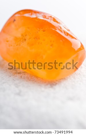 natural stone carnelian in beautiful colors on white ground