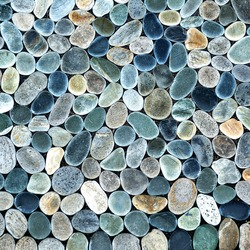 natural stone pebble texture background - surface wall decoration backdrop pattern rock garden