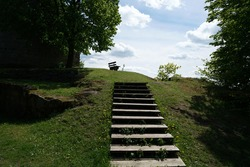 Natural stone stairs seem to be made to last