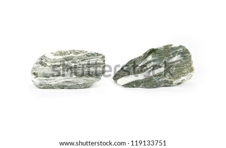 Natural stones isolated on white background