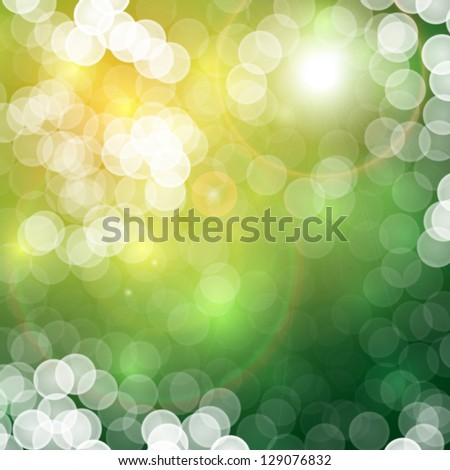Natural summer abstract bokeh background - raster bitmap version