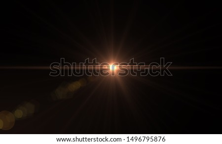 Photo of  Natural, Sun flare on the black background