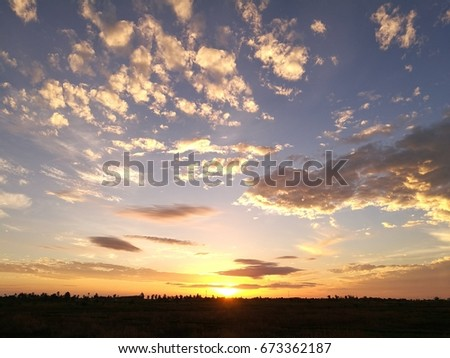 Natural Sunrise in the morning #673362187