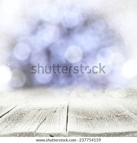 natural table top and snow