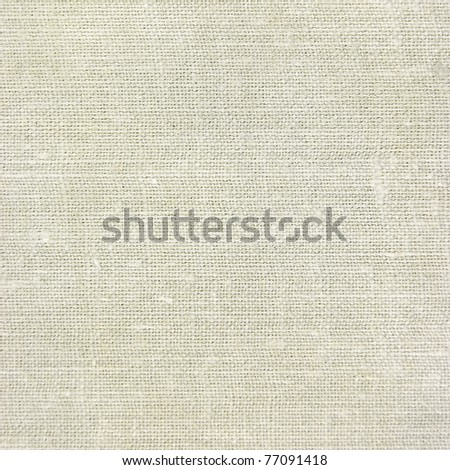Natural vintage linen burlap textured fabric texture, old rustic canvas background in tan, beige, yellowish, grey