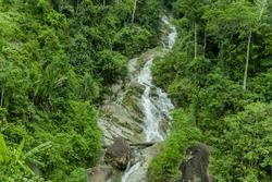 Natural Waterfall at Kuala Kurau, Taiping, Perak, Malaysia