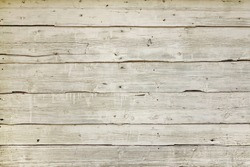 Natural Wood Board Plank Wall Panel Horizontal Shabby Texture. Wooden Color Vintage DIY Background. Reclaim Wood Surface. Hardwood Grey Floor Or Table Or Door Or Celling Structure. Closeup. Copy Space