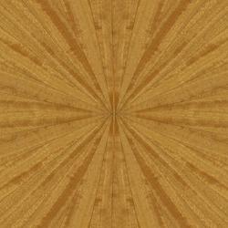Natural yellow wood texture in radial sun burst pattern