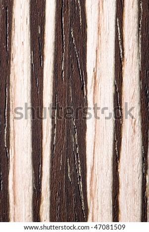 Natural Zebrano veneer surface illustrating natural grain detail