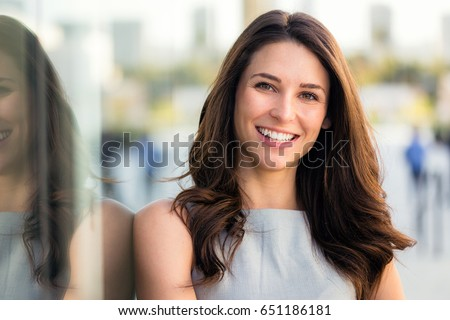 naturally beautiful woman with...