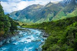 Nature a at mount aspiring national park new zealand south island