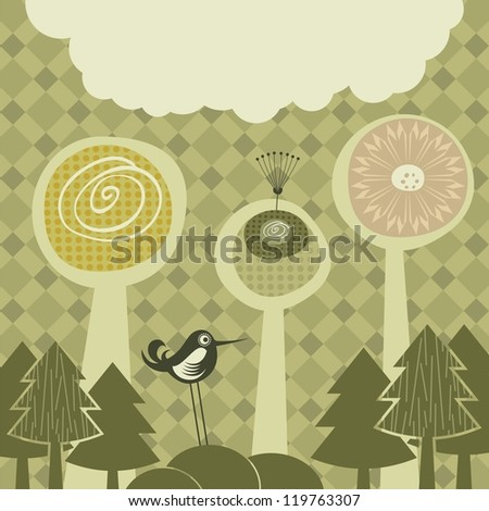 Nature abstract background with space for text