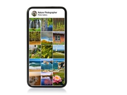 Nature and landscape photography gallery shown on mobile phone