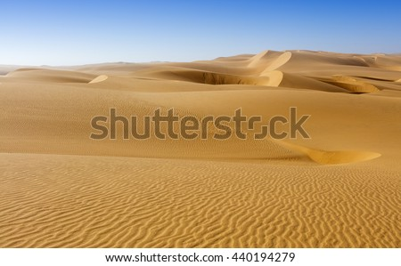 Nature and landscapes of desert. Middle East desert