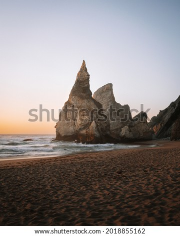 Nature around Cabo da Roca, Cape Roca, the westernmost point of continental Europe. Foto stock ©
