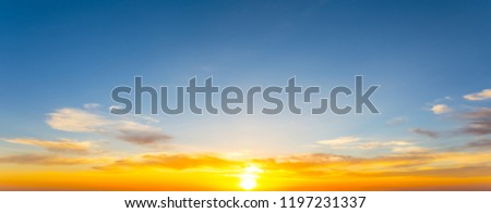 nature background, dramatic sunset among  the cloudy sky #1197231337