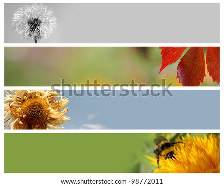Nature banners for your design