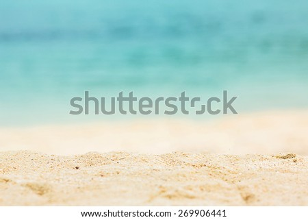 Nature beautiful Sand beach background. #269906441