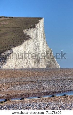 Nature beauty of Seven Sisters white cliff in East Sussex England