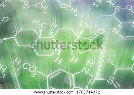Nature blur background with ecology illustration Foto stock ©