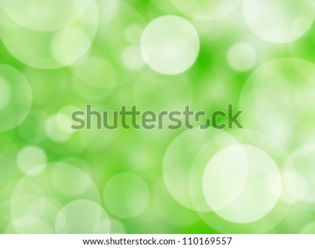 Nature bokeh lights
