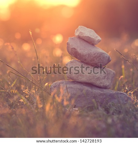 nature calm and balance vintage