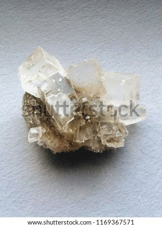 Nature crystal. Mineral Halite #1169367571