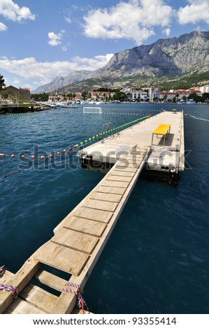 Nature ground for water polo in Makarska, Croatia