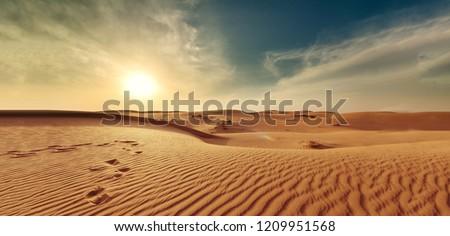 nature landscape desert sand sky #1209951568