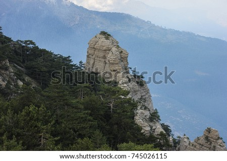 Nature mountain landscape forest nature #745026115