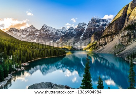 Nature mountains with blue sky in forest #1366904984