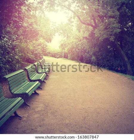 nature park vintage background - stock photo