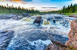 Nature river wild rapids view. River rapids view