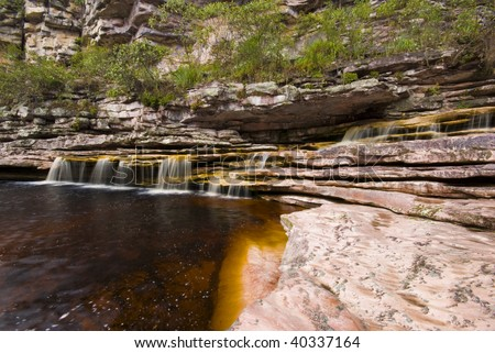 Nature Scene - Small waterfall in chapada diamantina - Brazil .