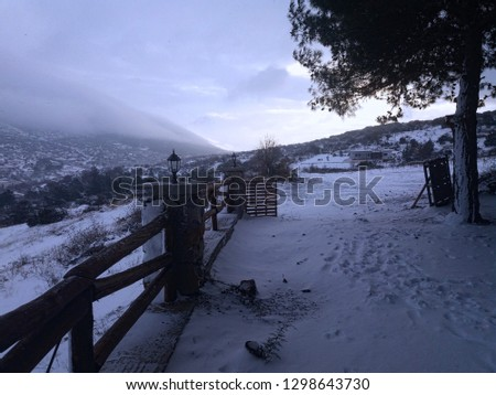 nature snow mist #1298643730