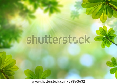 nature spring background - stock photo