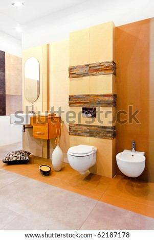 Nature style marble toilet in earth colours