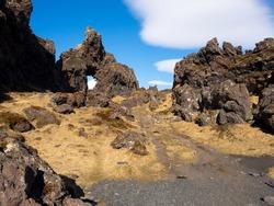 Nature trail to Dritvik Beach Iceland