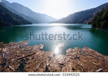 Nature view at Kurobe Dam. - Shutterstock ID 533443525
