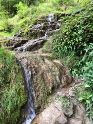 nature wather autumn green waterfall